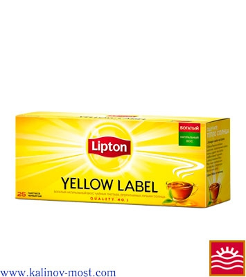 Купить Lipton 025 pack Yellow Label пакетир. 25х2,0 г