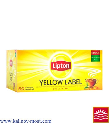 Купить Lipton 025 pack Yellow Label пакетир. 50х2,0 г