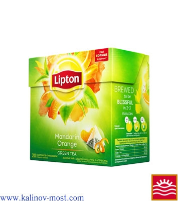 Lipton пирамидки Green Tea Mandarin Orange пак/пирам 20х1,8 г
