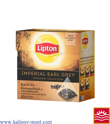 Lipton пирамидки Black Tea Imperial Earl Grey пак/пирам 20х1,8 г